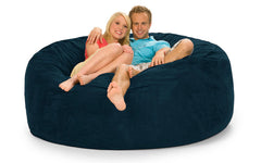 Navy Blue Bean Bag Chair - 6 ft