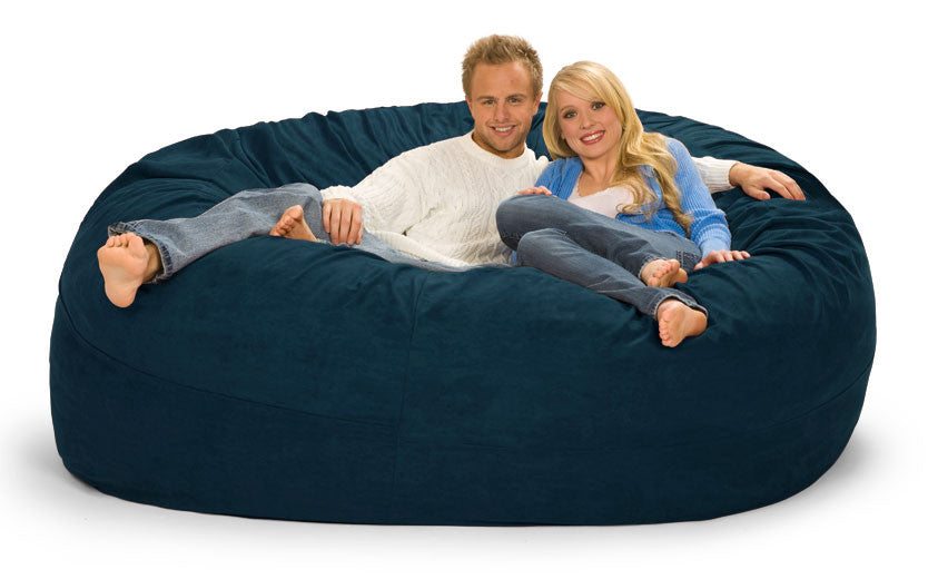 7 Ft Navy Blue Bean Bag Chair
