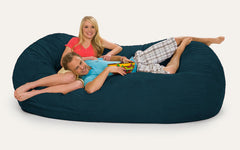 Navy Blue 7 ft Oval Bean Bag Chair
