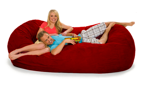 Red Oval 7.5 ft by giant-bean-bags.com