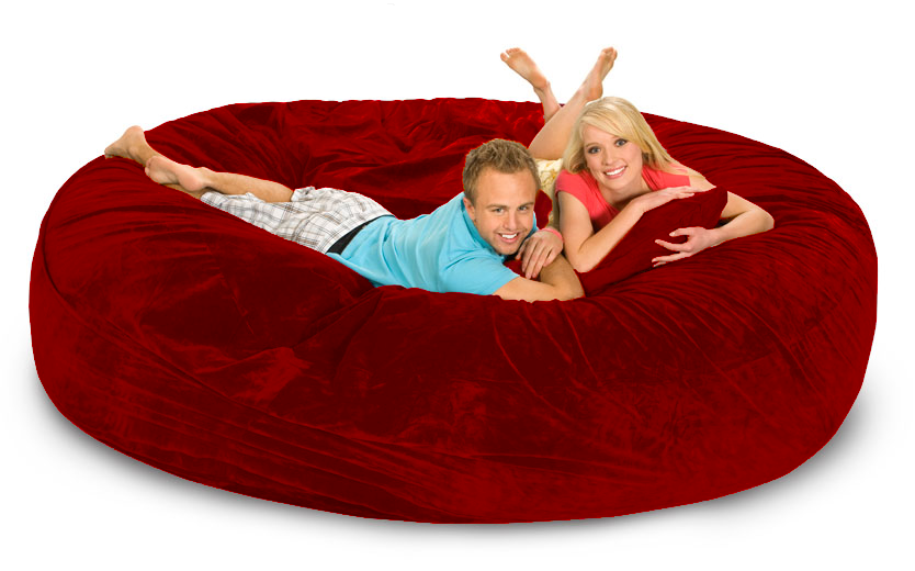 Red Bean Bag Bed