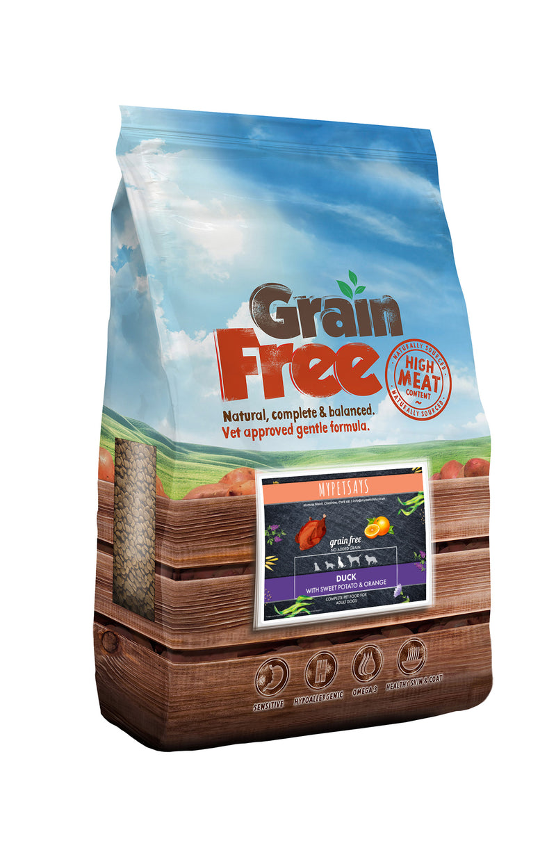 Grain Free Dog Food - Duck, Sweet Potato & Orange