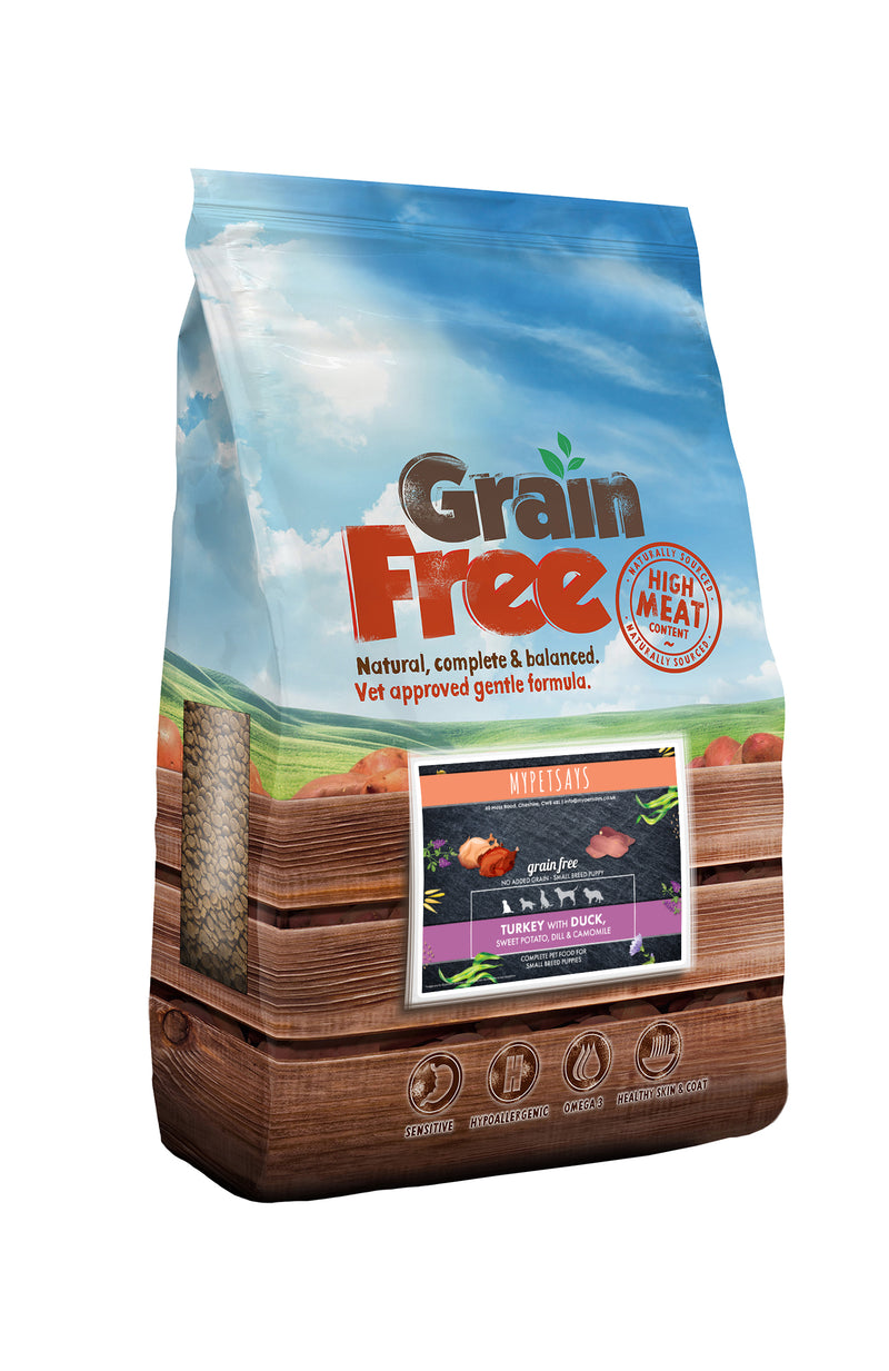 Grain Free Small Breed Puppy Food - Turkey with Duck, Sweet Potato & Dill