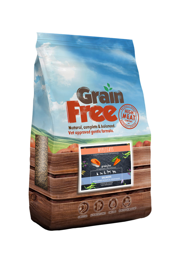 Grain Free Large Breed Puppy Food - Salmon with Sweet Potato & Vegetables