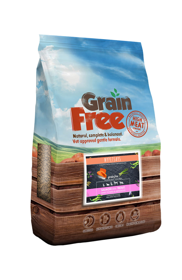 Grain Free Small Breed Dog Food - Salmon with Trout, Sweet Potato & Asparagus