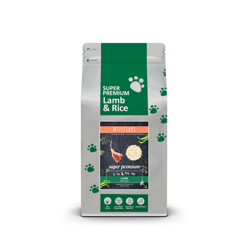 Super Premium Adult Dog Food - Lamb & Rice