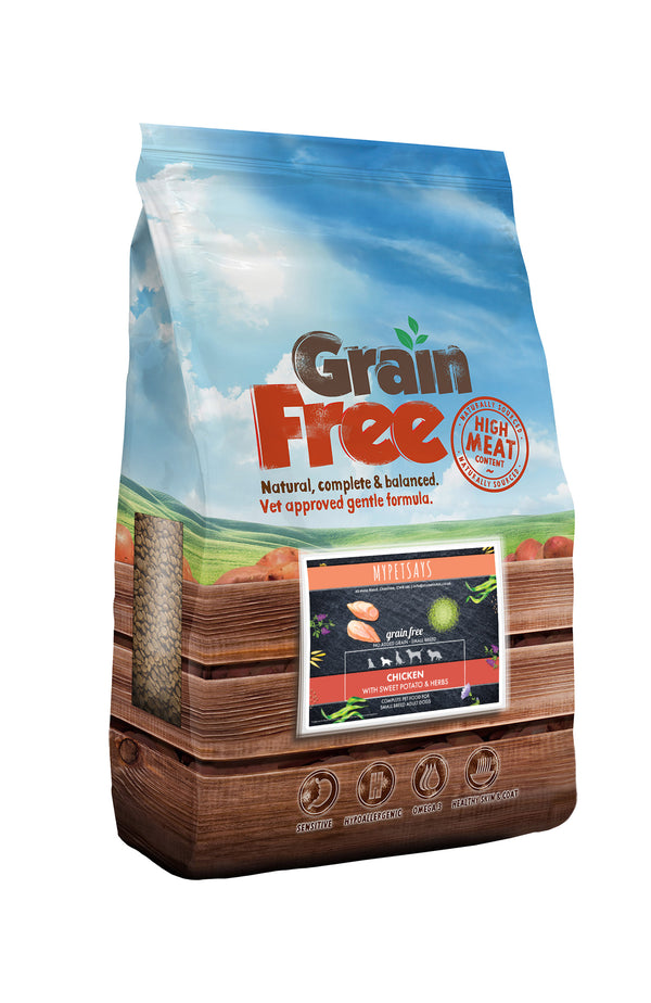 Grain Free Dog Food - Small Breed Chicken, Sweet Potato & Herb