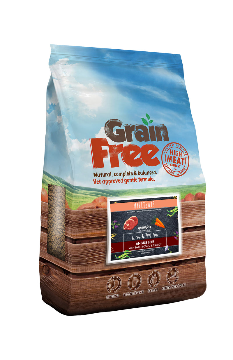 Grain Free Dog Food - Angus Beef with Carrot