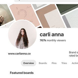 Pinterest Template Pack for Businesses - Carli Anna Brand Shop