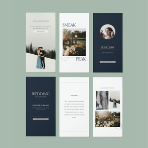 Instagram Template Pack For Wedding Pro's - Carli Anna Brand Shop