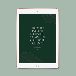 The Complete Guide To Presenting & Communicating With Clients - Carli Anna Brand Shop