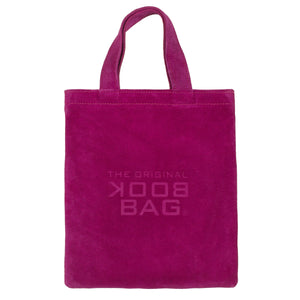 Suede Small Book Bag Fuchsia
