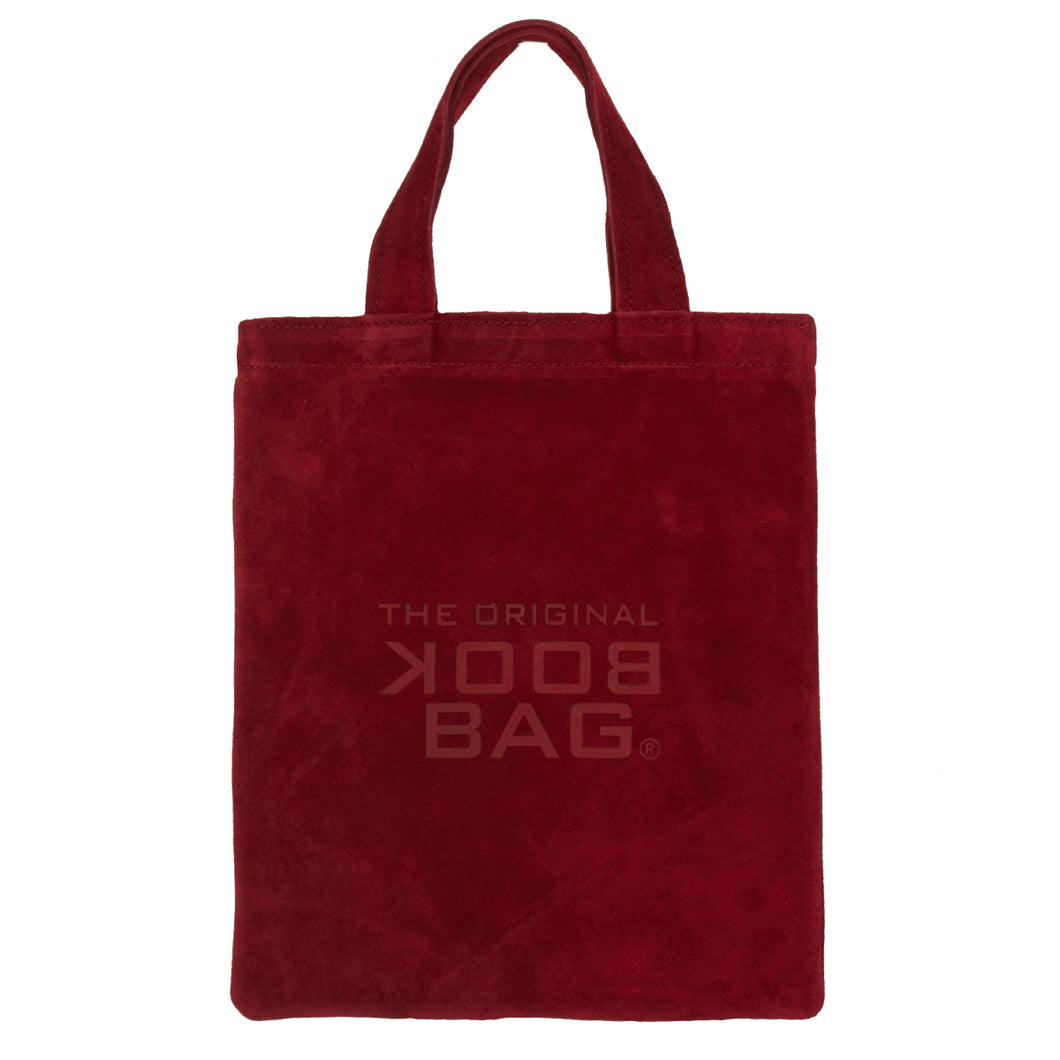 Suede Small Book Bag Burgundy