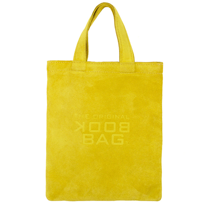 Suede Small Book Bag Yellow Ochre