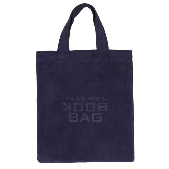 Suede Small Book Bag Blue