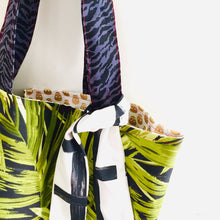 Load image into Gallery viewer, Metallic Skulls Green Leaves - Maxi Reversible Tote