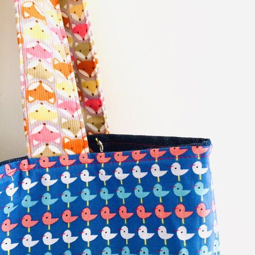 Foxy Bird  - Maxi Reversible Tote