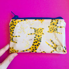 Load image into Gallery viewer, Peach Leopard - Clutches and coin purse