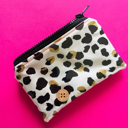 Gold Leopard spots - Clutches and coin purse