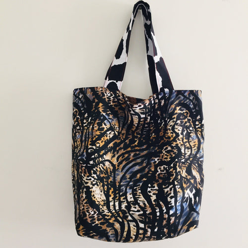 Tiger Rust- Maxi Reversible Tote