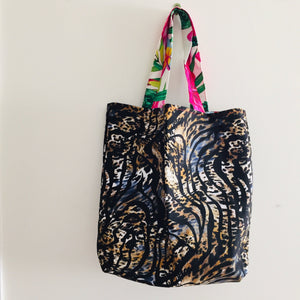 Tropical Leopard - Maxi Reversible Tote