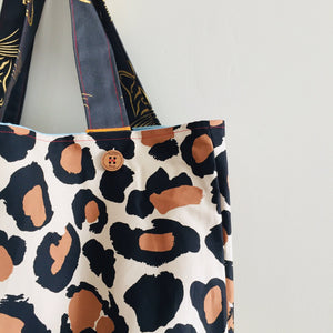 Large Leopard - Maxi Reversible Tote