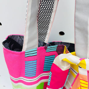 Monochrome into Rainbows - Maxi Reversible Tote
