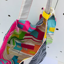 Load image into Gallery viewer, Monochrome into Rainbows - Maxi Reversible Tote