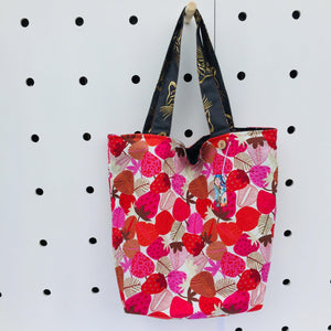 Strawberry Fields - Maxi Reversible Tote