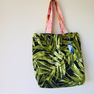 Green Leaves - Maxi Reversible Tote