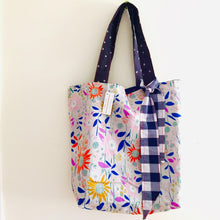 Load image into Gallery viewer, Country Garden ll - Maxi Reversible Tote with Matching Tie