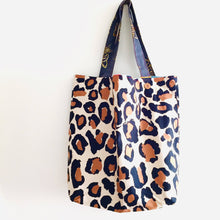 Load image into Gallery viewer, Large Leopard - Maxi Reversible Tote