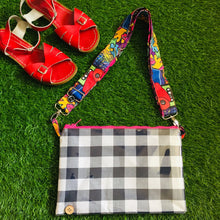 Load image into Gallery viewer, Navy Gingham Purse Plus+ with 90's Kids adjustable strap