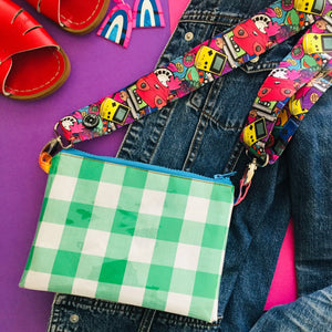 Green Gingham Purse Plus+ with 90's Kids adjustable strap