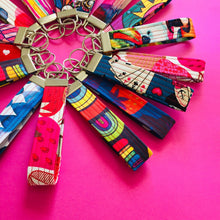 Load image into Gallery viewer, Wristlet Key Fob - Rainbow Bright