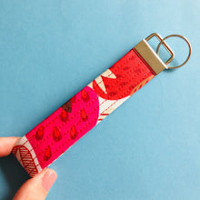 Load image into Gallery viewer, Wristlet Key Fob - Strawberry
