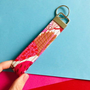 Wristlet Key Fob - Strawberry