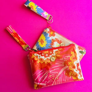 Pinky Floral - Clutch