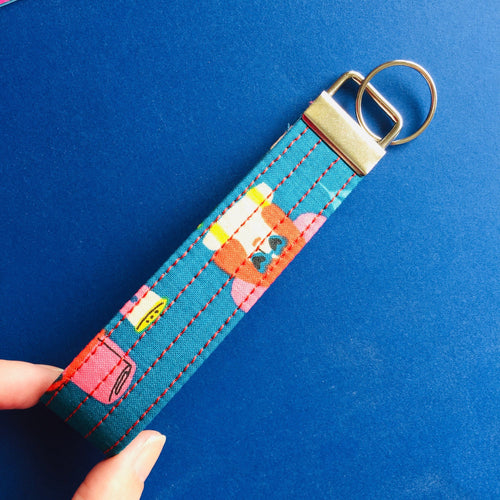 Wristlet Key Fob - Sunnies on