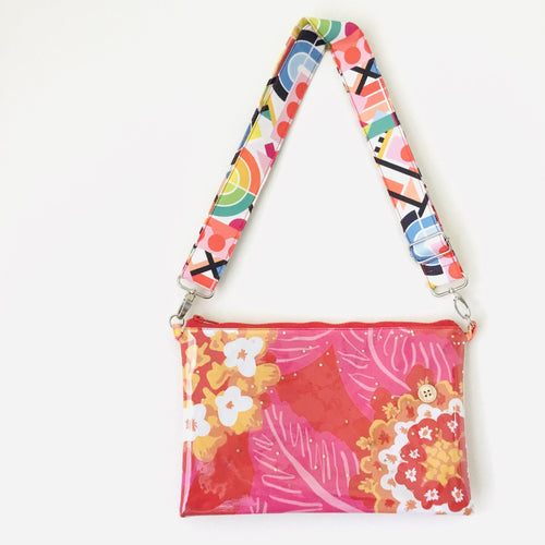 Pink Floral Purse Plus+ with Adjustable Strap