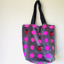 Load image into Gallery viewer, Lady Bug Spot - Maxi Reversible Tote