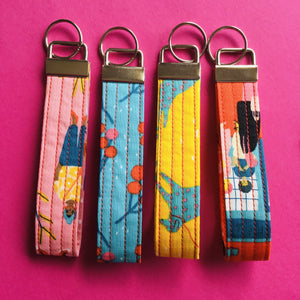 Wristlet Key Fob - Yellow Dog