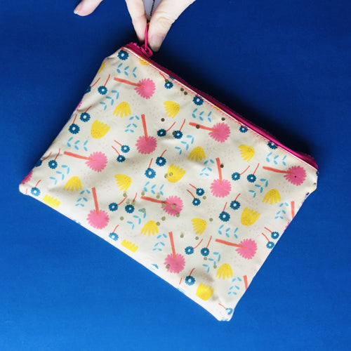 Peachy Floral - Clutch