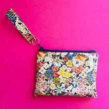 Load image into Gallery viewer, Wristlet Key Fob - May Gibbs Floral Navy
