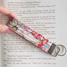 Load image into Gallery viewer, Wristlet Key Fob - May Gibbs Floral Light Pink