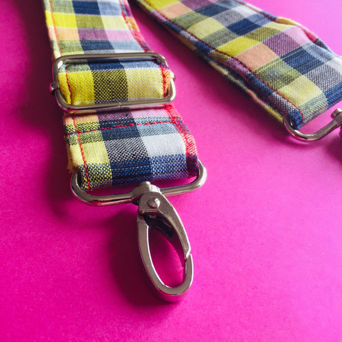 Adjustable Shoulder Strap - Rainbow Gingham
