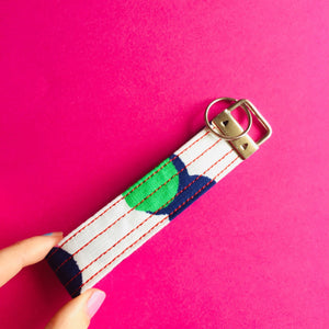 Wristlet Key Fob - Rainbow Pop