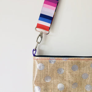 Pouch Plus+ Strap - Silver Dot