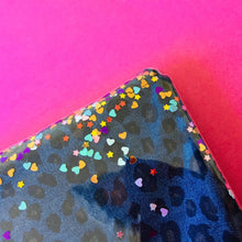 Load image into Gallery viewer, Disco Denim Leopard - Clutch