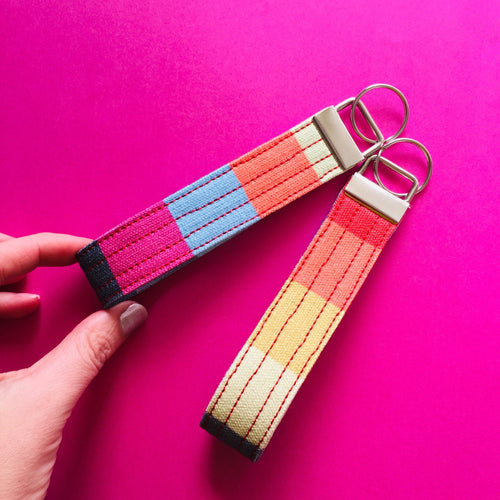 Wristlet Key Fob - Candy Stripes